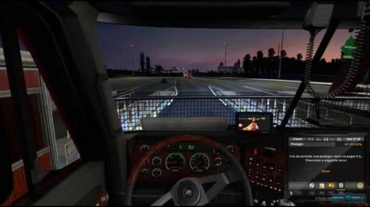 Симулятор грузовика Euro Truck Simulator 2 — вид из кабины водителя