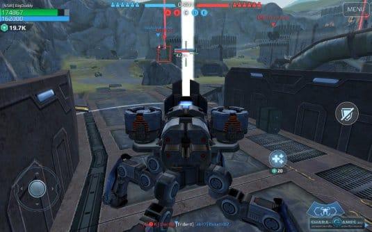 В битве в War Robots