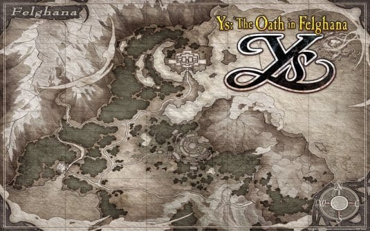 Screenshot №7. Карта YS The Oath in Felghana