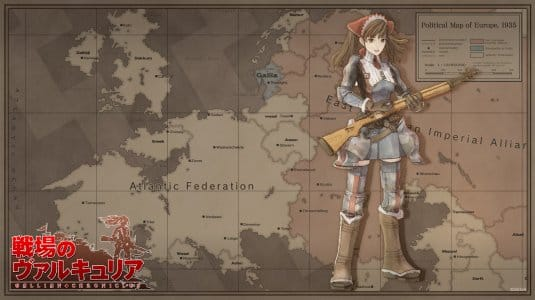 Sreenshot №7. Карта Valkyria Chronicles