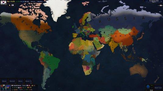 Карта современного мира