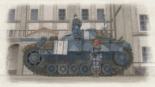 Sreenshot №8. Valkyria Chronicles танк Эдельвейс