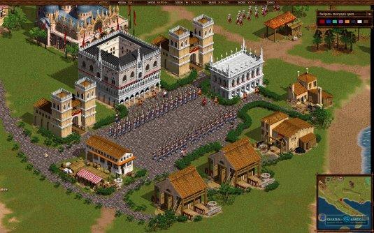 Идеальное построение солдат и игровая карта в виде Апеннинского полуострова