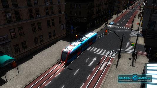 Транспорт, который ездит по пустому городу
