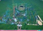 Скриншот Planet Coaster № 8. Сплошная американская горка, а не парк развлечений