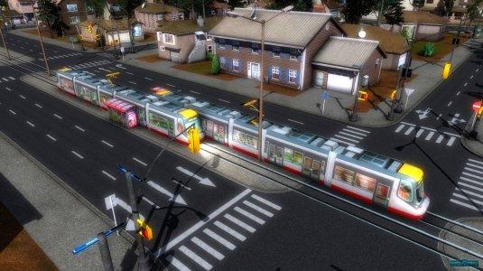 Трамвай, рассекающий по просторам частного района