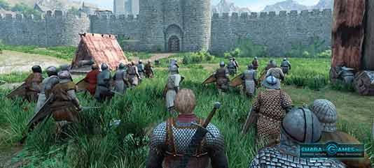 Штурм крепости при помощи осадной башни и тарана