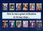 Все 12 представленных персонажей и наций в Age of Rivals