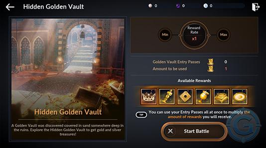 Золотая сокровищница Black Desert Mobile — нажми Начать битву