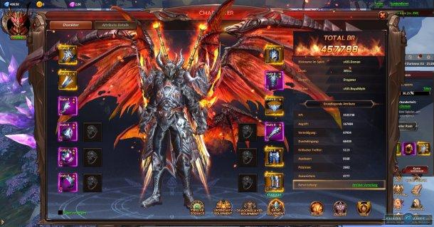 Скриншот № 8. Прокачка League of Angels: Heaven's Fury