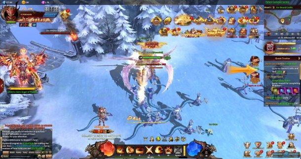 Скриншот № 1. Снега League of Angels: Heaven's Fury