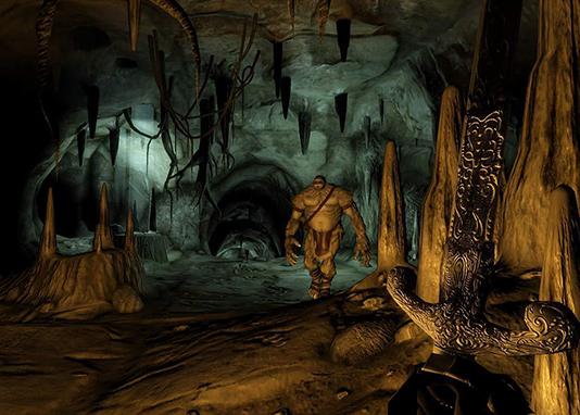 В пещерах The Elder Scrolls 4: Oblivion