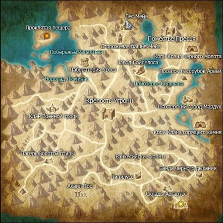 Аделия на карте