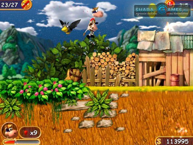 Скачать бесплатно Игру Супер Корова (v. 1.0) от Alavar.ru (полная