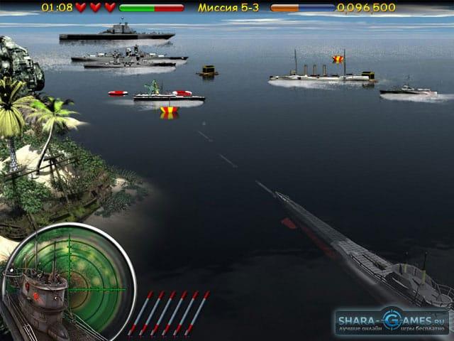 играть в морской бой с подводными лодками