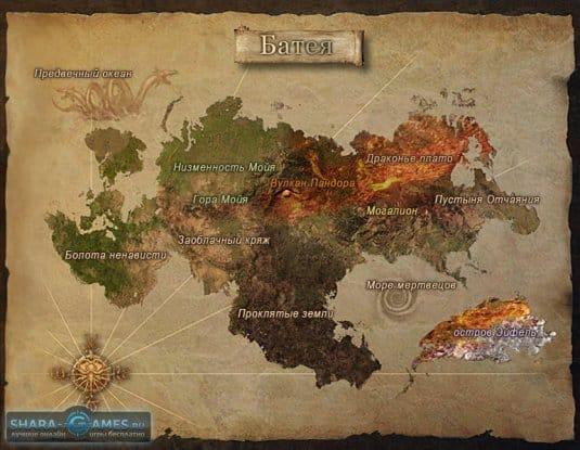 Легенды Героев Онлайн — карта Батеи