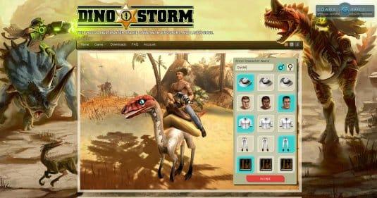 Создайте своего двойника в Dino storm