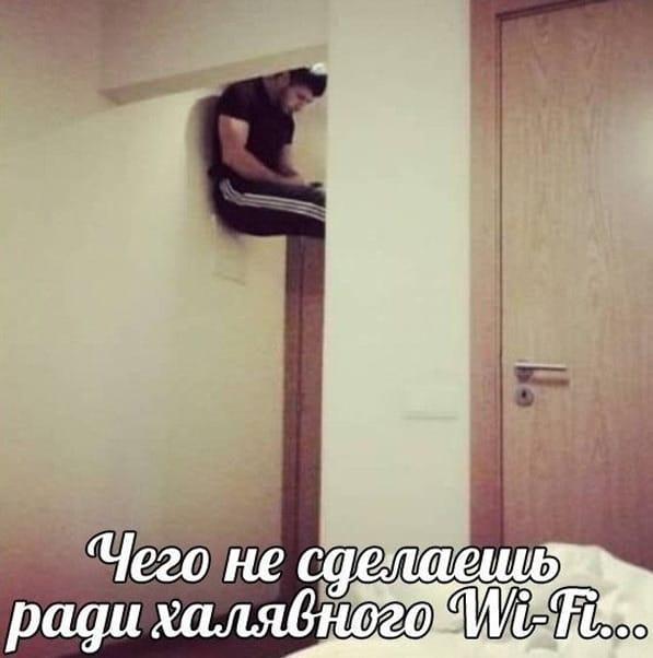 Чего только не сделаешь ради халявного Wi-Fi