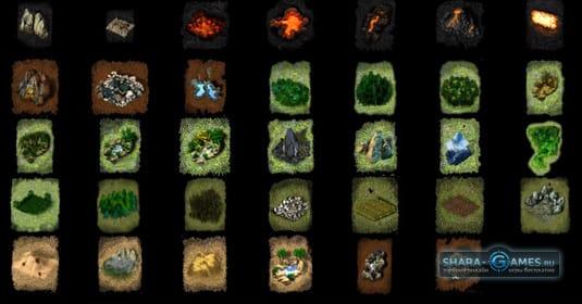 Некоторые локации игры «Разбитые миры»