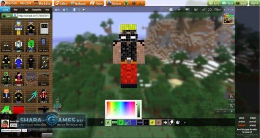 Онлайн-создание скина для Minecraft