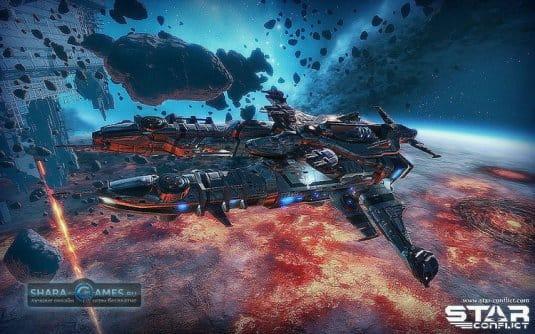 Космические корабли вместе с красивым внешним миром — основной рецепт для создания хорошей онлайн-игры