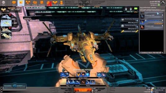Вот так выглядит ваш боевой ангар, где нужно проводить исследования своего корабля