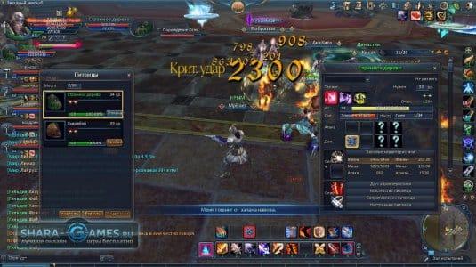 Скриншот битвы в игре Dark Age