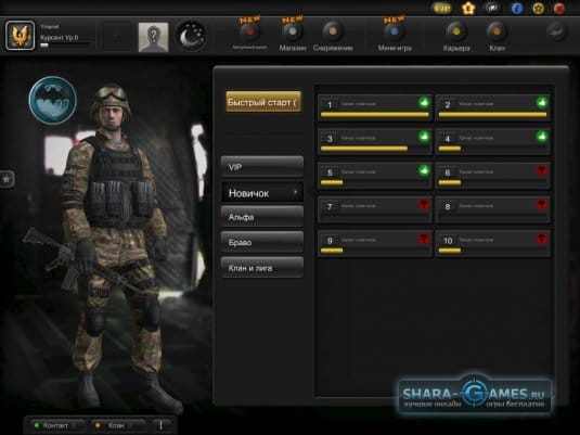 Интерфейс игрового окна S.K.I.L.L. – Special Force 2