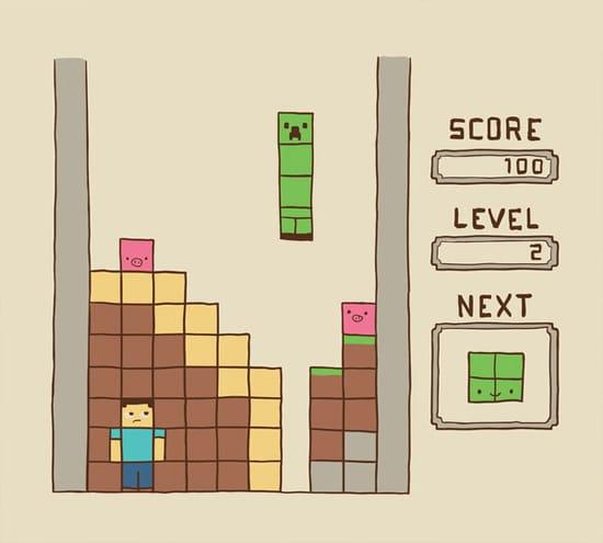 Тетрис и Minecraft