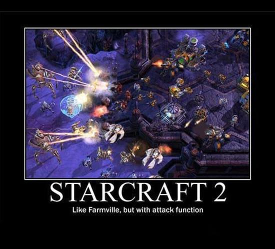Starcraft 2  это как игра про ферму, но с возможностью атаки