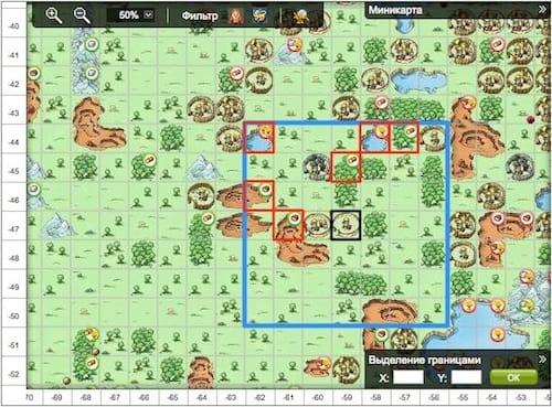 Захватывать можно оазисы в пределах 3-х клеток от деревни