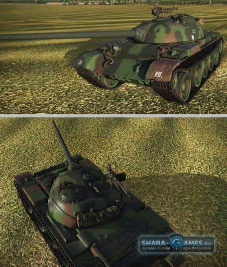 Леопардовый камуфляж для Т-54