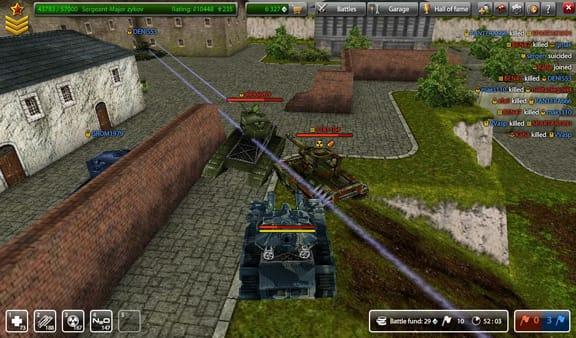 Сражения на танках