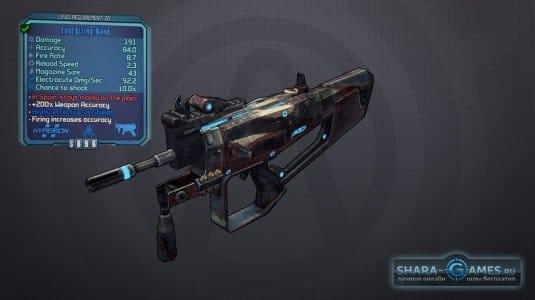 Характеристики оружия в игре.