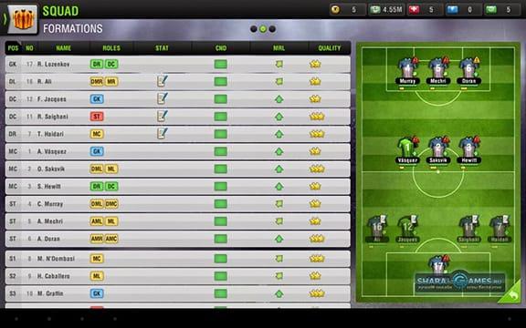 Распределение игроков на поле