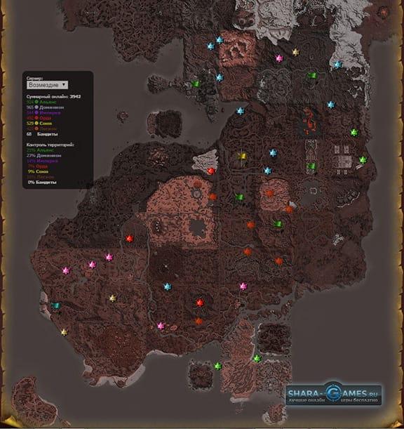 Распределение территорий на карте мира