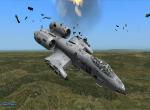 Поврежденный самолет