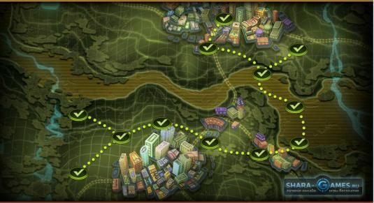 Карта сюжетных миссий