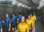 Футболисты готовятся выйти на футбольное поле