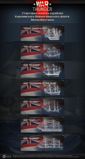 Стартовая линейка кораблей
