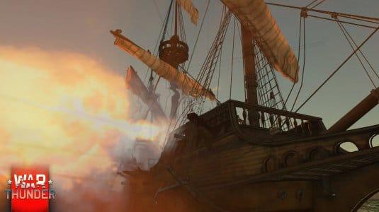 War Thunder парусные корабли. Скриншот 3