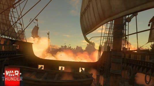 War Thunder парусные корабли. Скриншот 2