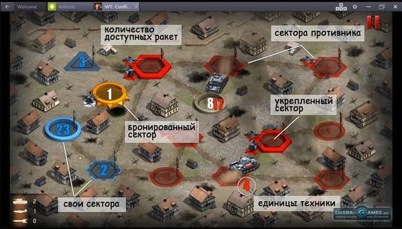 Описание обозначений в бою