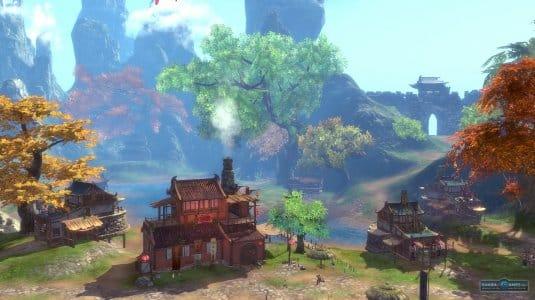 Прекрасный пейзаж игровой локации