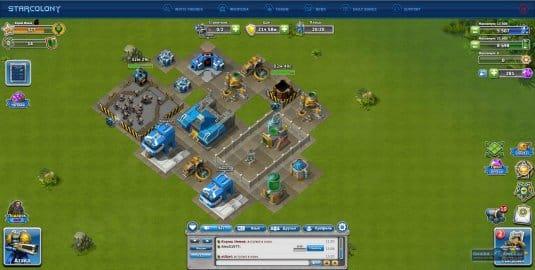 Геймплей игры Star Colony