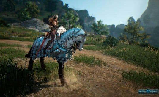 Персонаж верхом на лошади