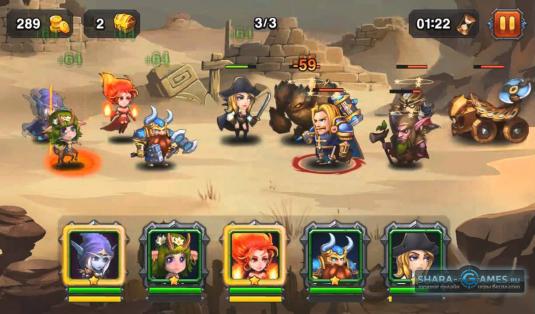 Герои Heroes Charge на поле битвы