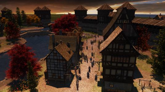 The Guild 3. Вид города во время заката