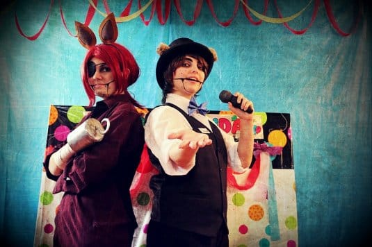 Foxy and Freddy - Five nights at Freddy's cosplays by RinkuRose and Zalevia