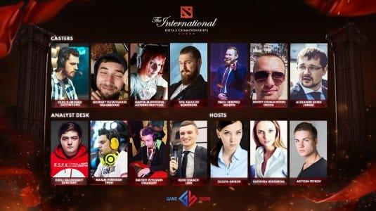 Команда Game Show, которые будут комментировать события TI6